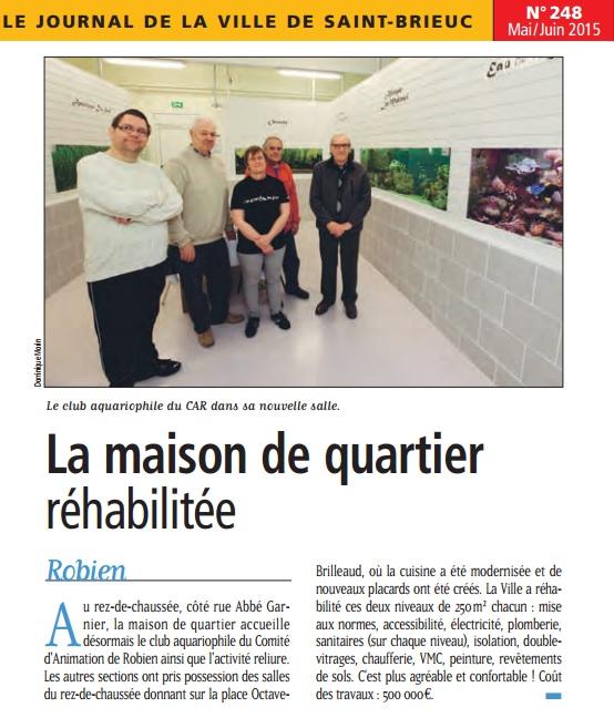 ACARA News GRIFFON_248_la_maison_de_quartier_rehabilitee